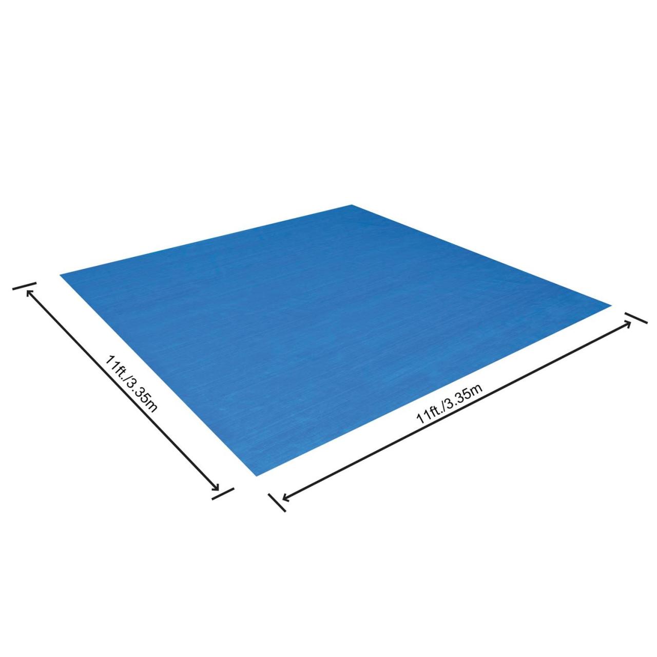 Bestway 58001 Flowclear Bodenplane Quadratisch 335x335cm Bodenschutz Poolschutz