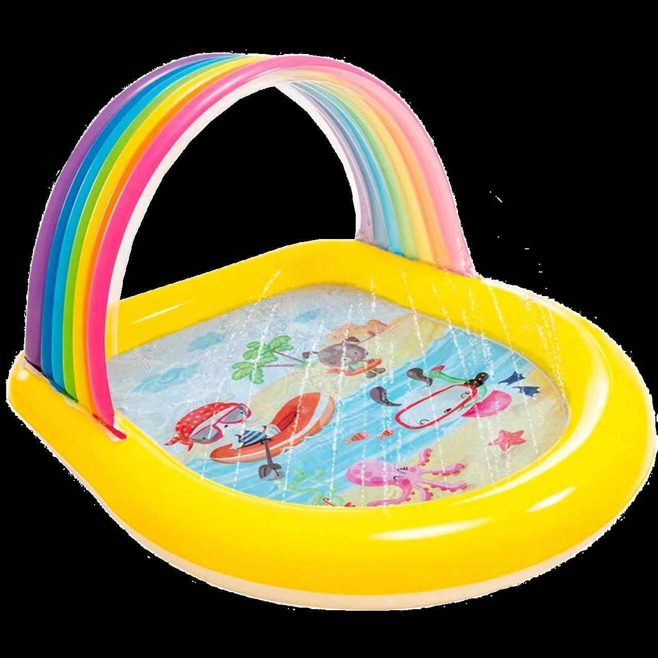 Intex Aufblasbares Planschbecken Regenbogen 147x130x86 cm 57156 aufblasbar