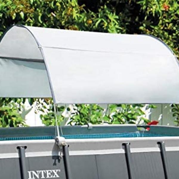 Intex 28054 Pooldach Canopy Rectangular Pool Sonnenschutz Abnehmbar Schatten
