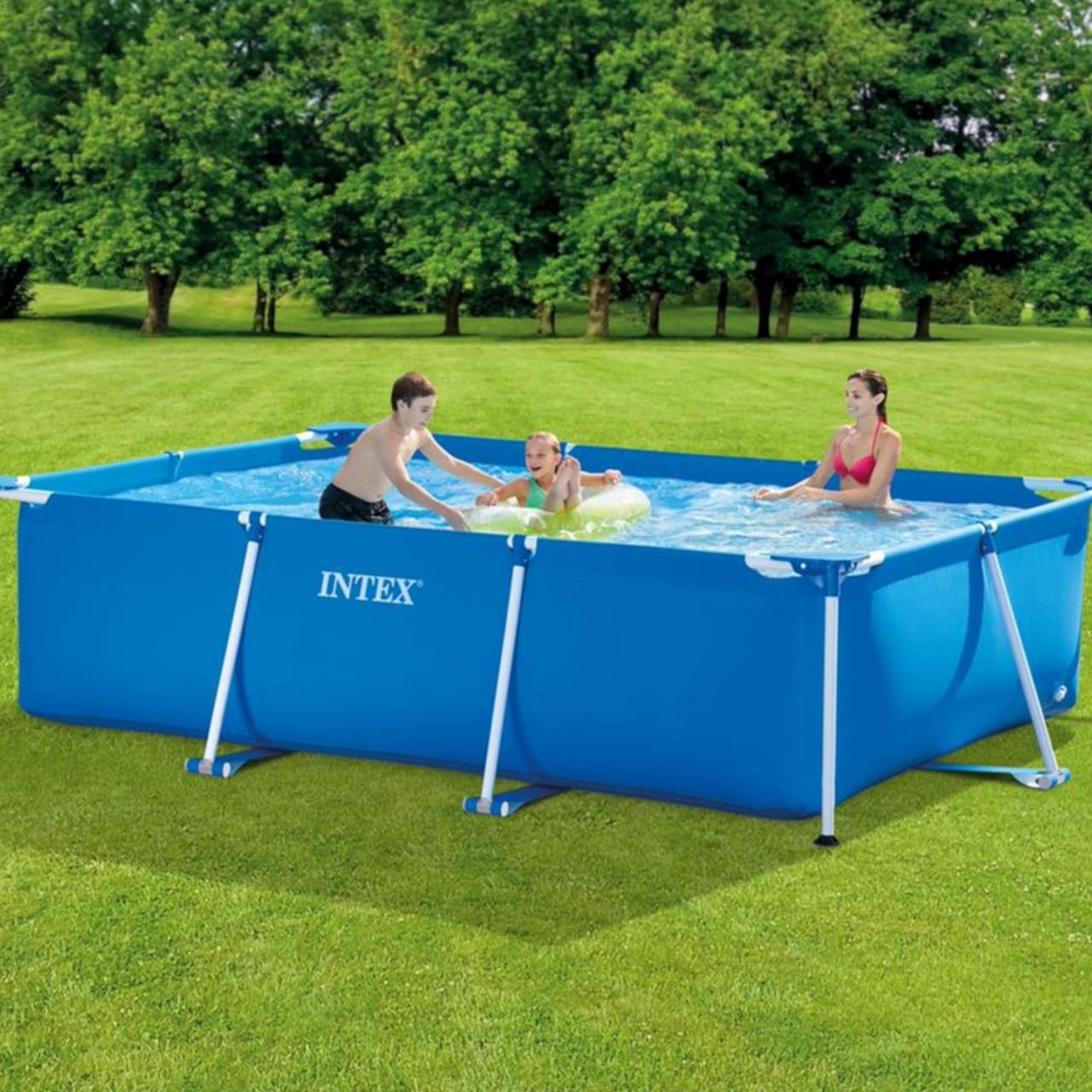 Intex 28272 Schwimmbad 300x200x75cm Schwimmbecken Familienpool Rechteck Frame