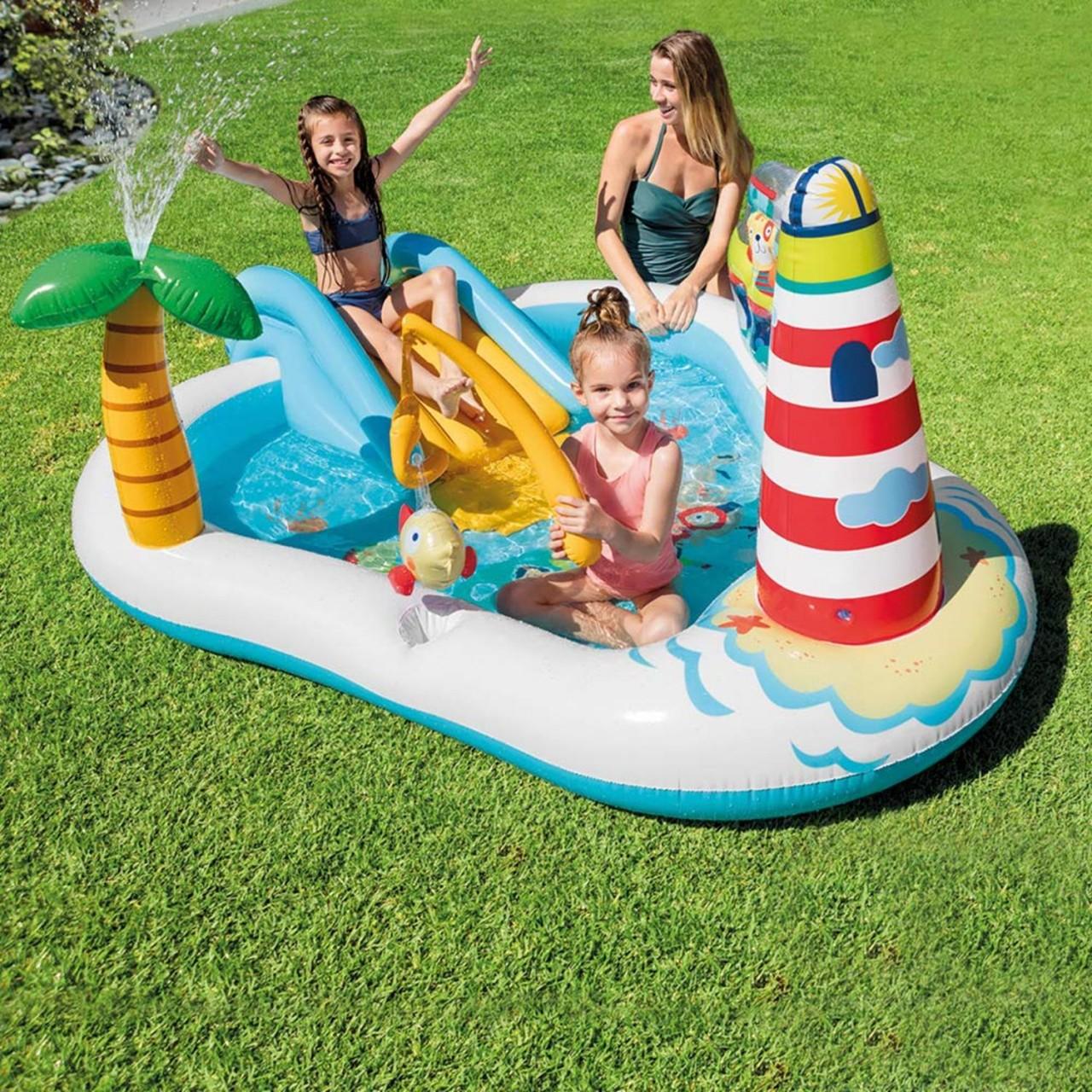Intex Play Center Fishing Fun Planschbecken Pool Wasserrutsche aufblasbar 57162