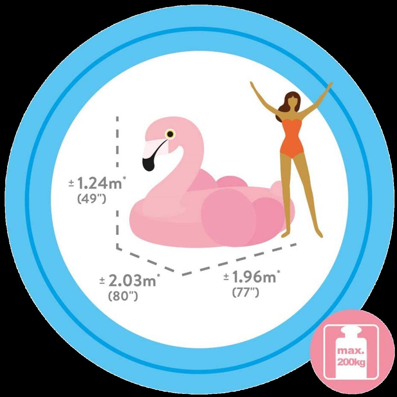 Intex Flamingo Badeinsel Schwimmliege Luftmatratze Liege 203x196x124 cm 57288