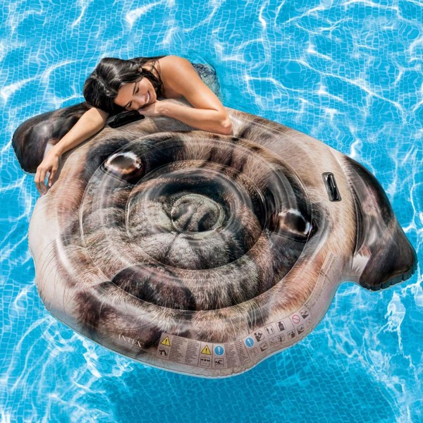 Intex Luftmatratze Mops Badeinsel Wasserliege Hund 173x130 cm aufblasbar 58785