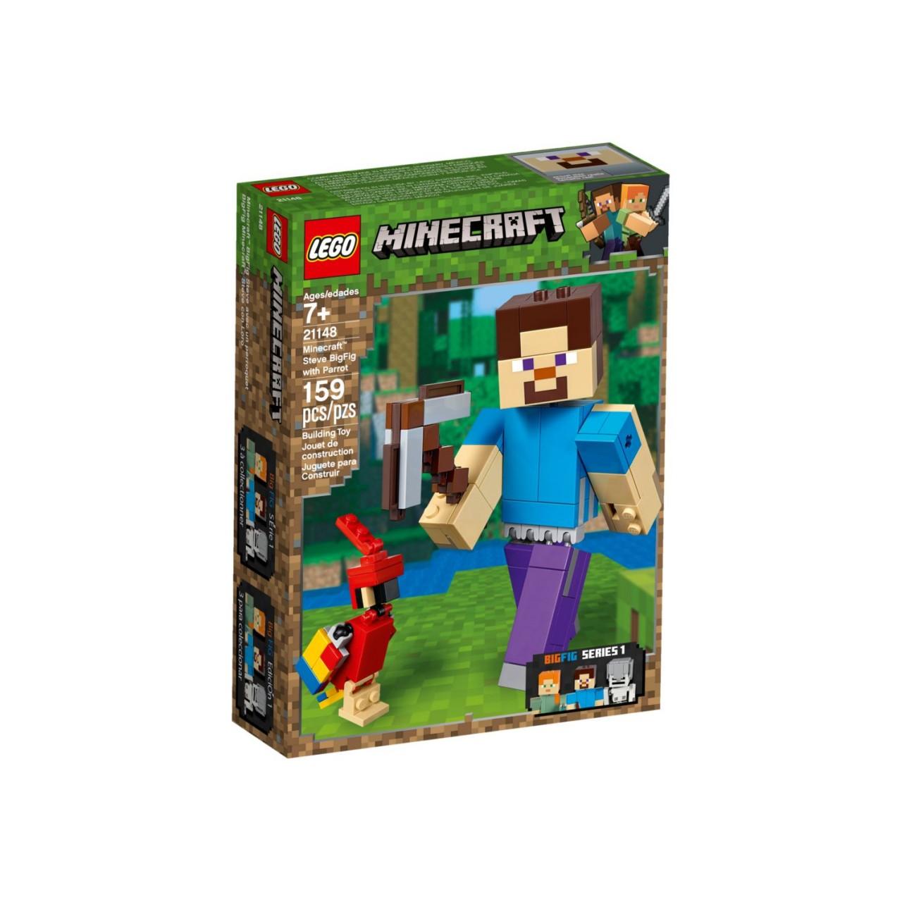 LEGO MINECRAFT 21148 Minecraft-BigFig Steve mit Papagei