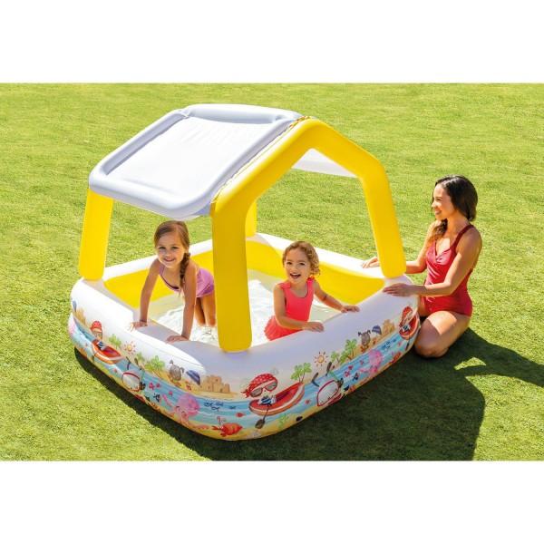 Intex Kinderpool Planschbecken Sun Shade 157x157x122 cm Sonnendach aufblasbar