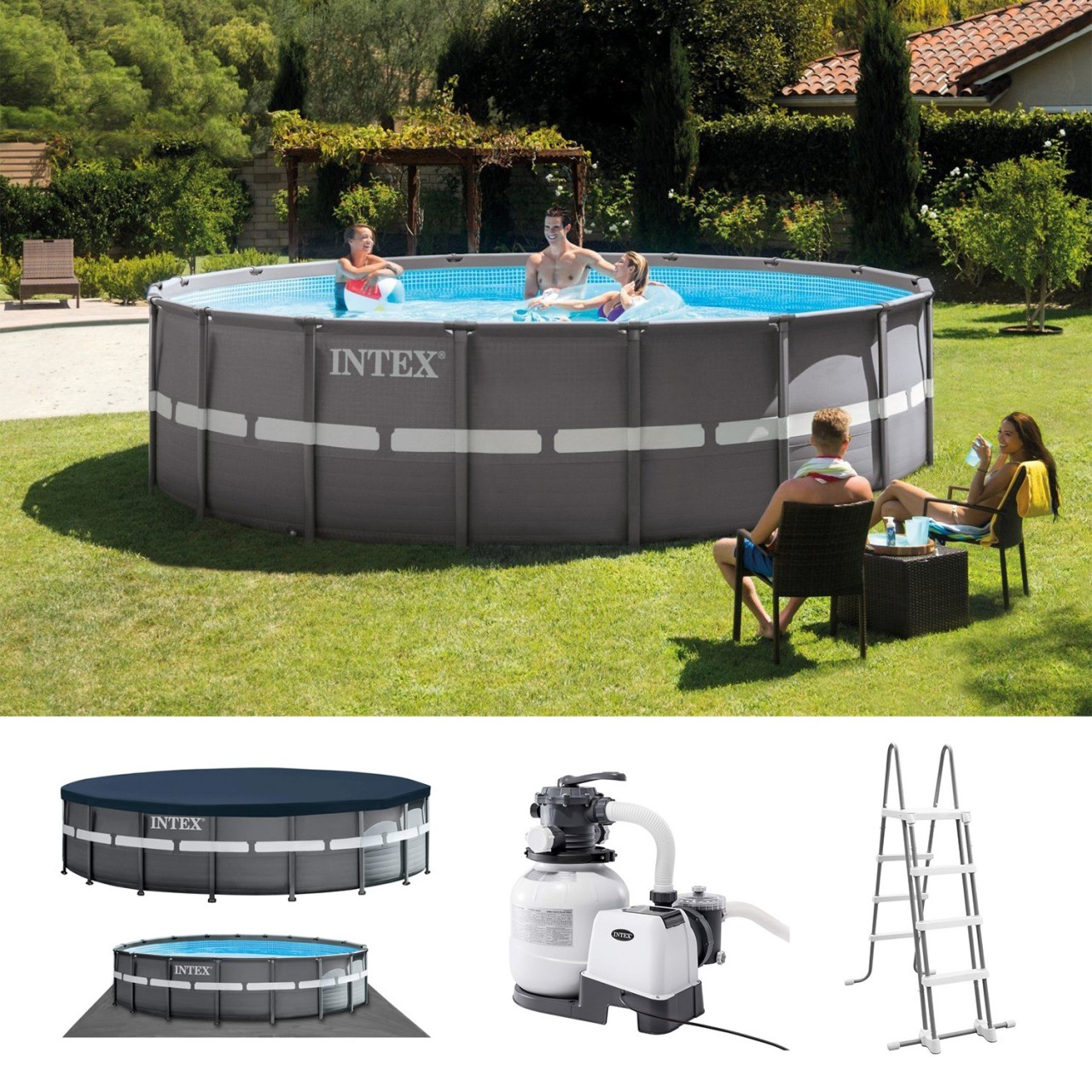 Intex Swimmingpool XTR Ultra Frame Pool Set 549 x 132 cm 26330