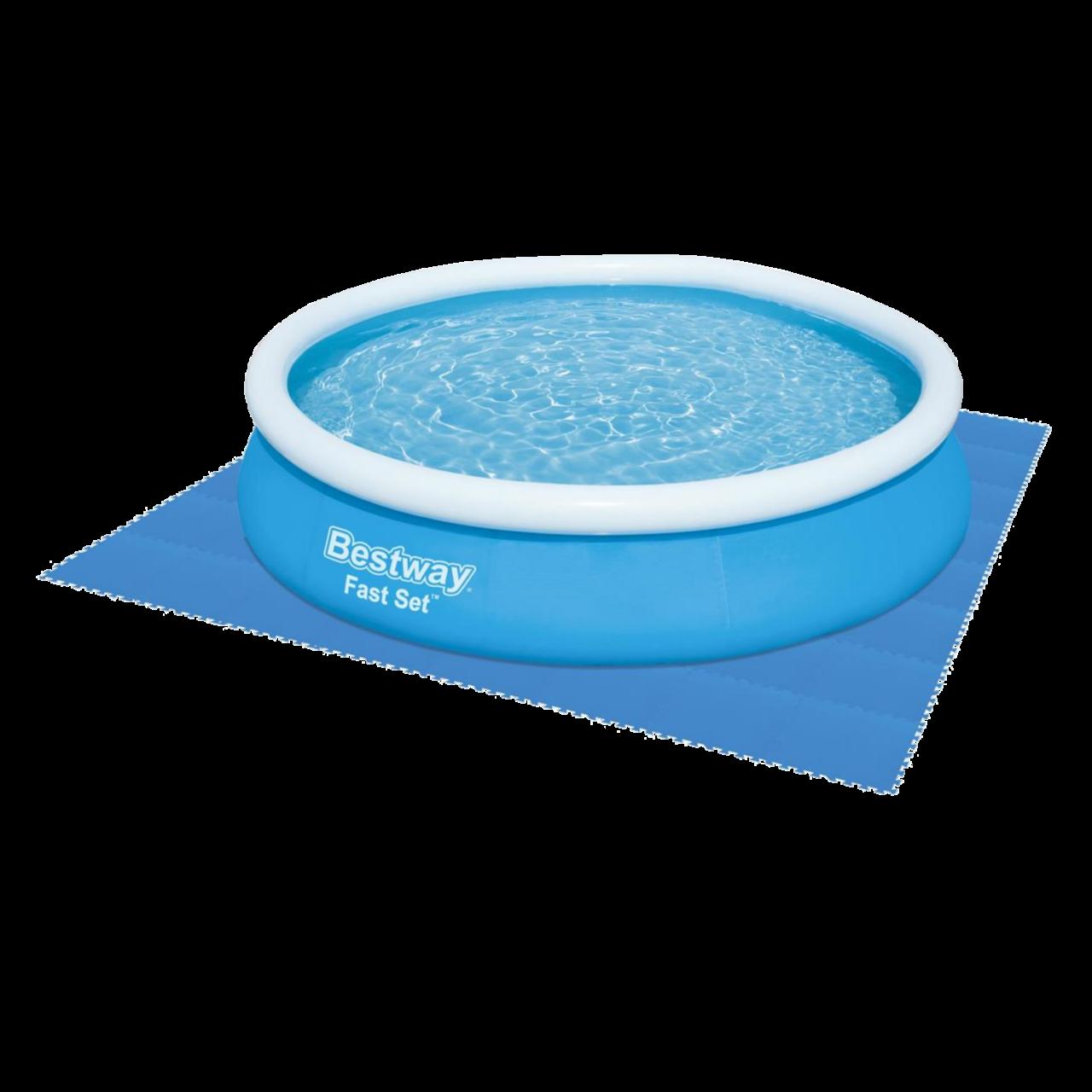 Bestway 58220 Flowclear Pool-Bodenschutzfliesen-Set blau 8 Stück á 50 x 50 cm