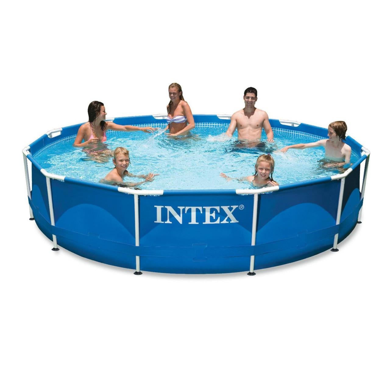 Intex 28212 Swimming Pool Frame 366x76 Stahlrohrbecken Schwimmbecken mit Pumpe