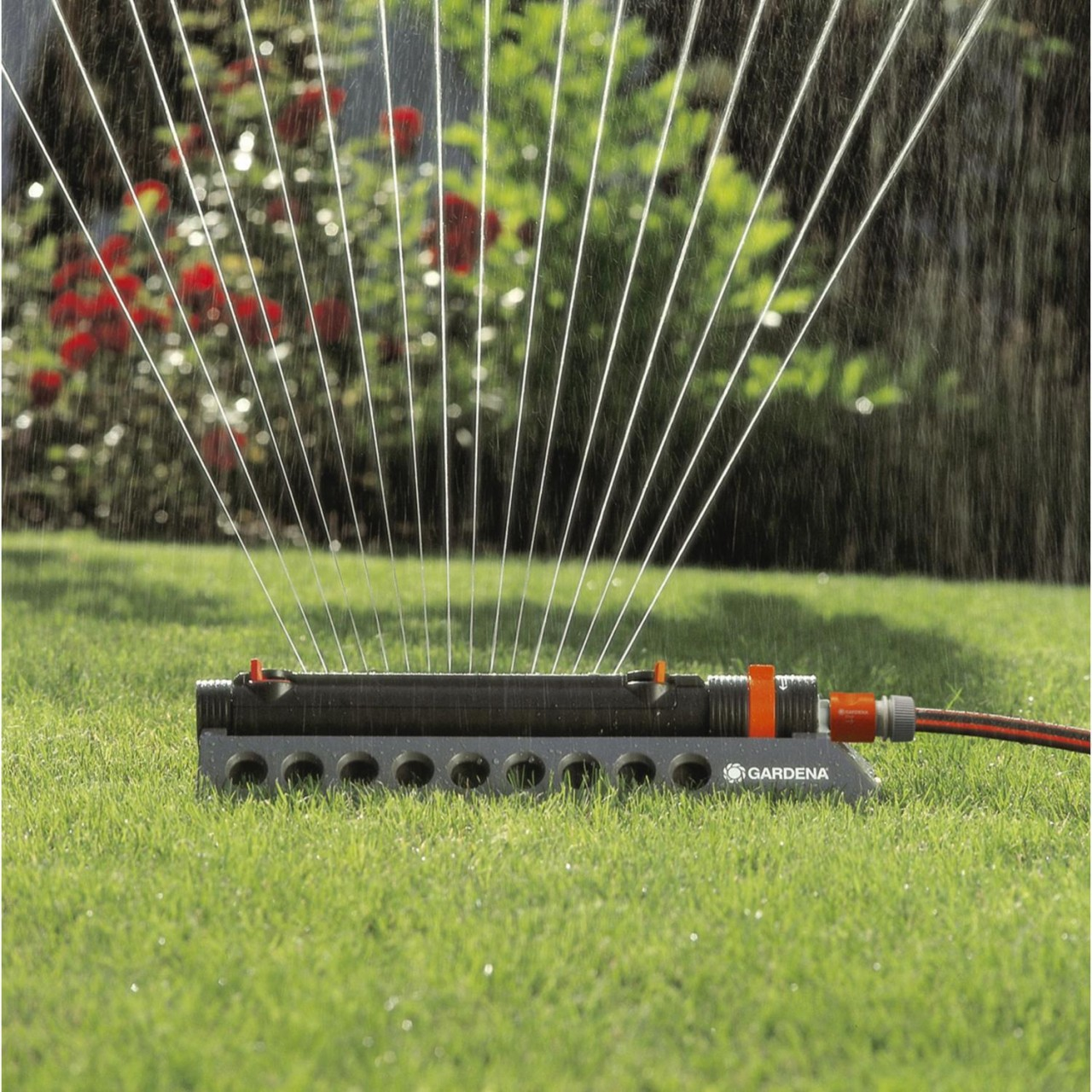 Gardena Comfort Aquazoom 250/2 1973-20 Viereckregner Bewässerung Garten Sprenger