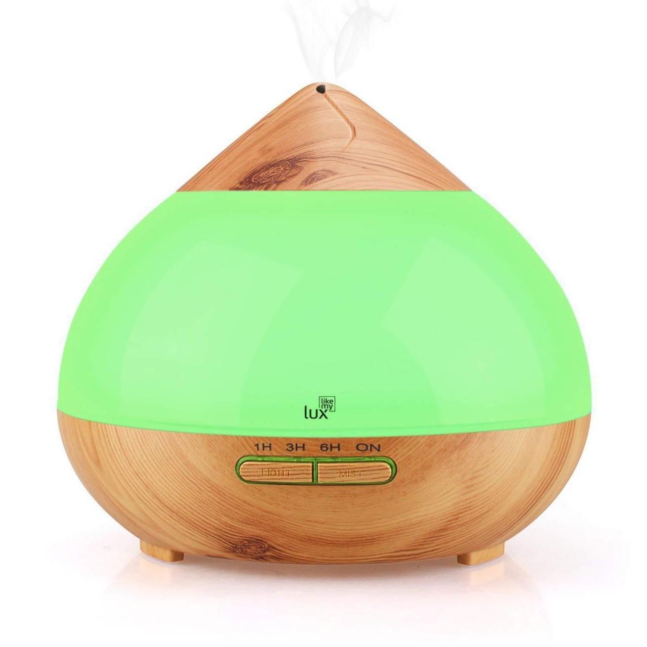 Aroma Diffuser Likemylux 300ml Luftbefeuchter Ultraschall Öl Diffusor LED braun