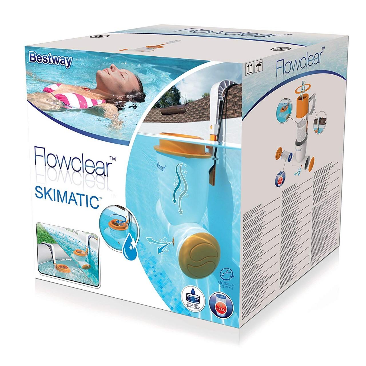 Bestway 58462 Skimmer Skimatic Einhängefilterpumpe Pumpe Flowclear 2.574l/h