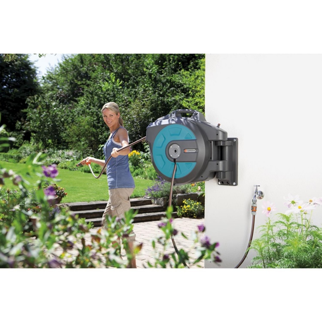 Gardena Wand-Schlauchbox 25 roll-up automatic 8023-20 ...