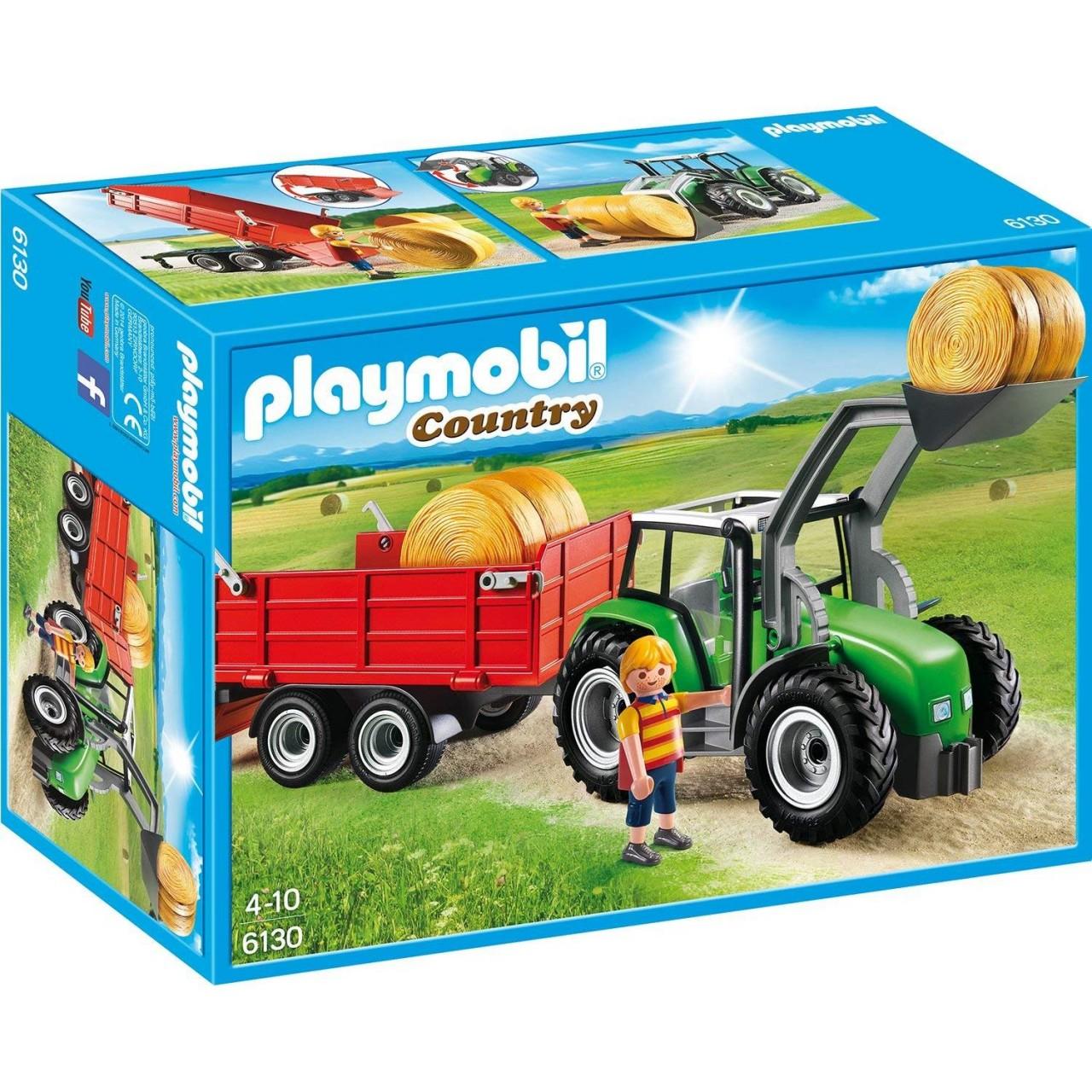 Playmobil 6130 Großer Traktor mit Anhänger