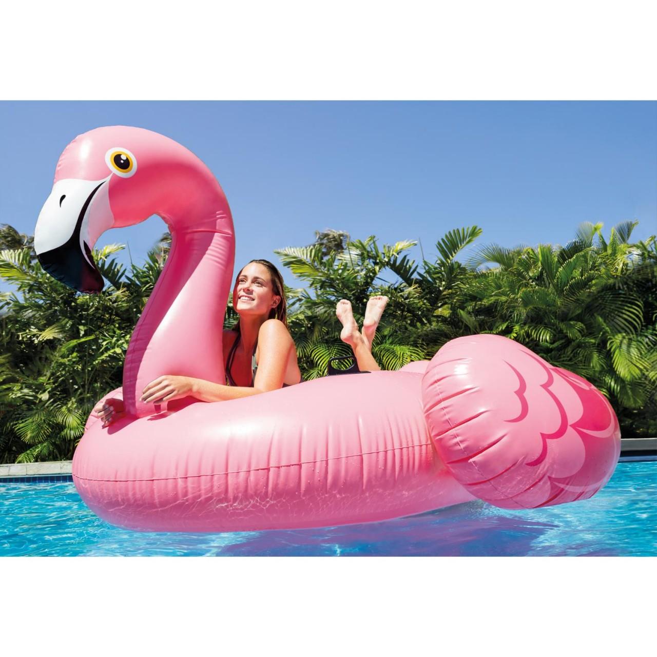 Intex Flamingo Badeinsel Luftmatratze Wasserliege 218x211x136cm aufblasbar 56288