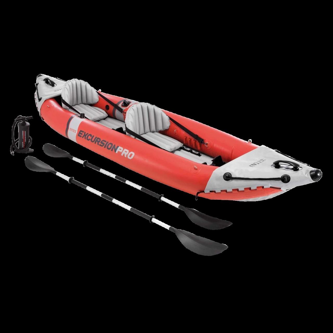 Intex Kajak Excursion Pro Schlauchboot Ruderboot Paddel + Pumpe aufblasbar 68309