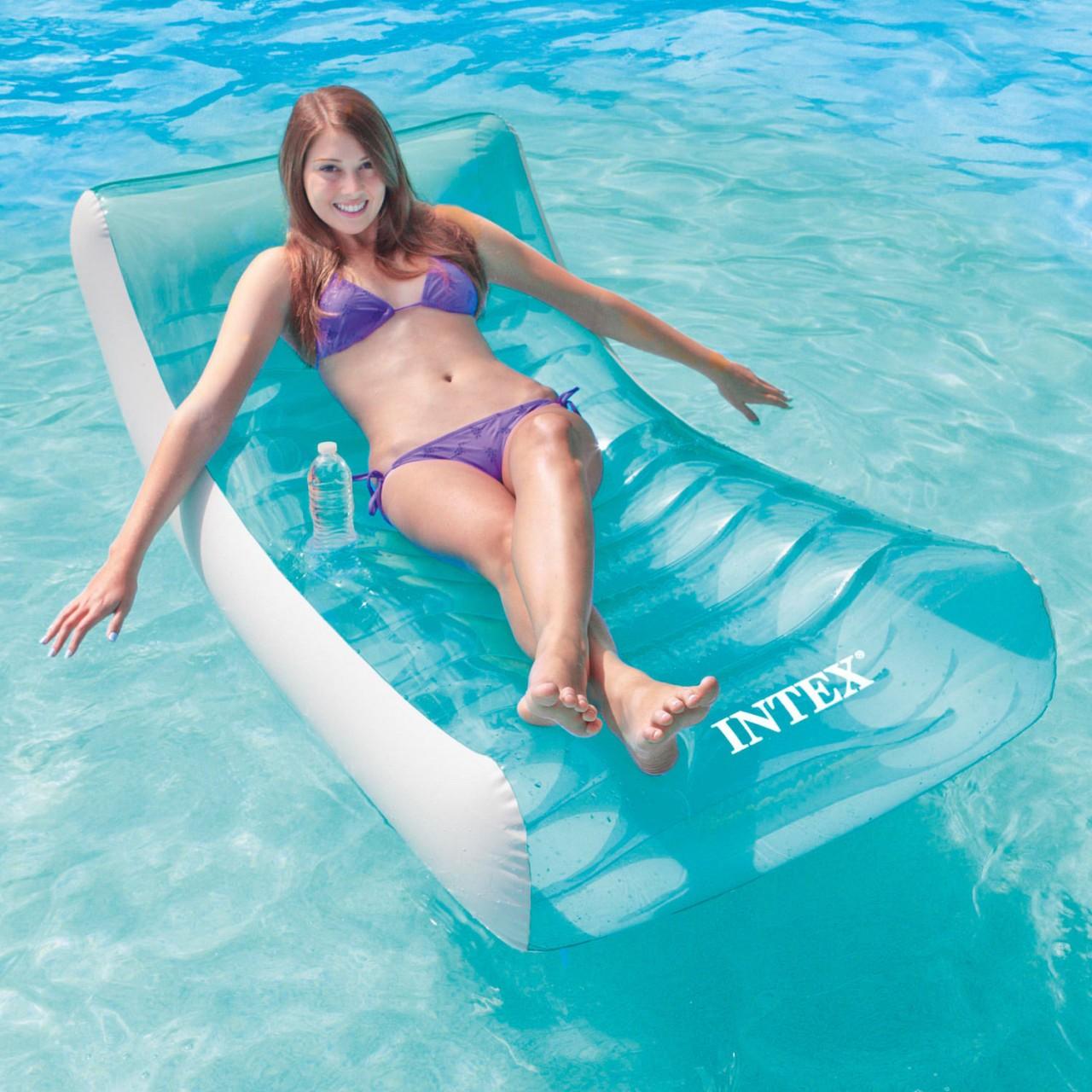 Intex 58856 Schwimmliege Rockin Lounge Luftmatratze Badeinsel Sessel aufblasbar