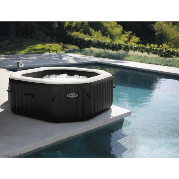 Intex 28454 Whirlpool Pure Spa Bubble Jet Salzwassersystem 201x71cm 4 Personen