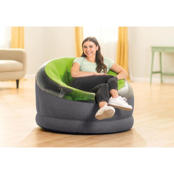 Intex 66581 Lounge Sessel Camping Fernsehsessel Sitzsack aufblasbar 112x109x69cm