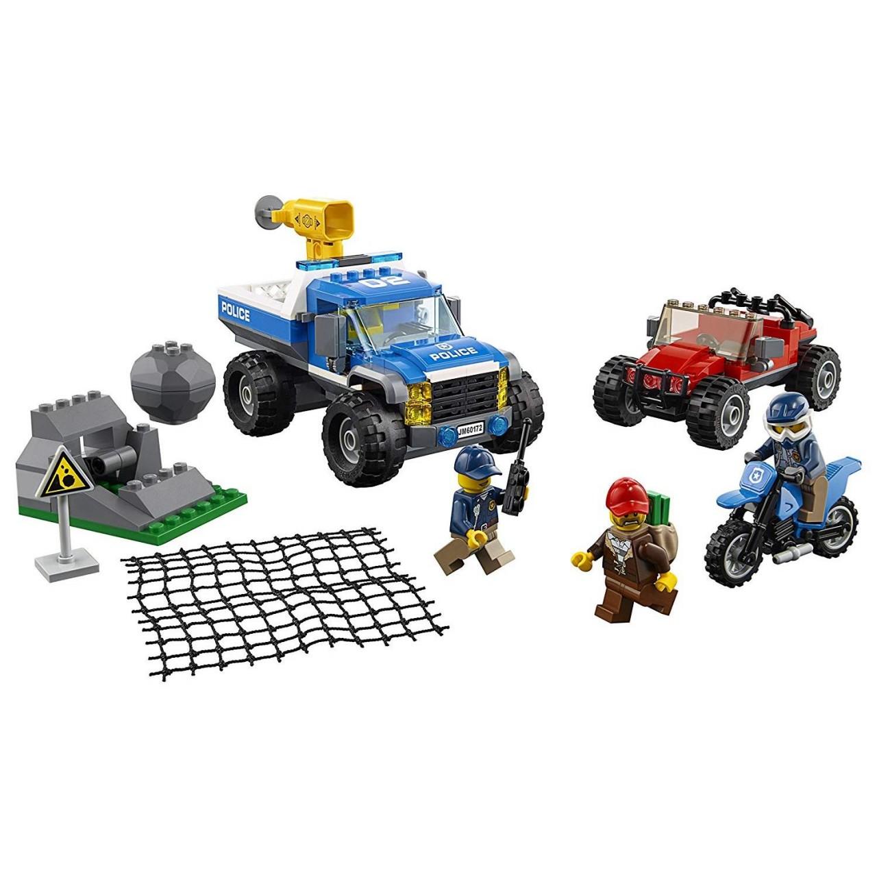 LEGO CITY 60172 Bergpolizei Verfolgungsjagd auf Schotterpisten