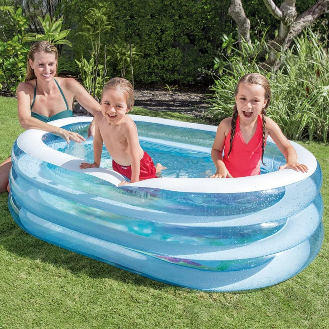 Intex 57482 Planschbecken Swimming Pool Kinderpool 163x107x46cm Oval Whale Fun