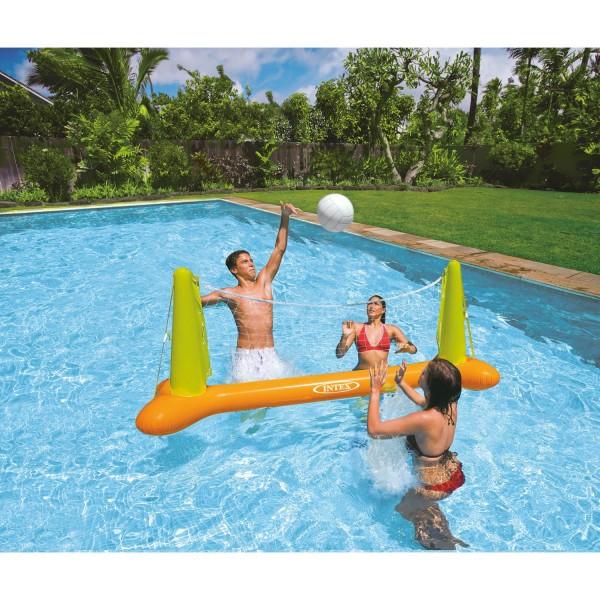 Intex Volleyball Netz aufblasbar 239 x 64 x 91 cm Wasserspiel mehrfarbig 56508