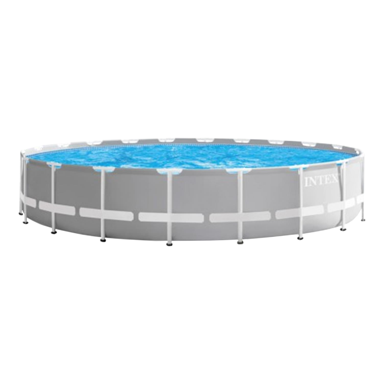Intex 26756 Swimming Pool Frame Prism Ø610x132cm Pumpe Leiter Boden-Abdeckplane