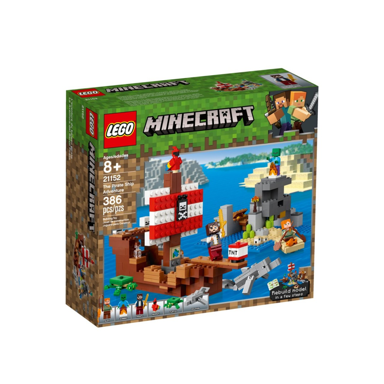 LEGO MINECRAFT 21152 Das Piratenschiff-Abenteuer