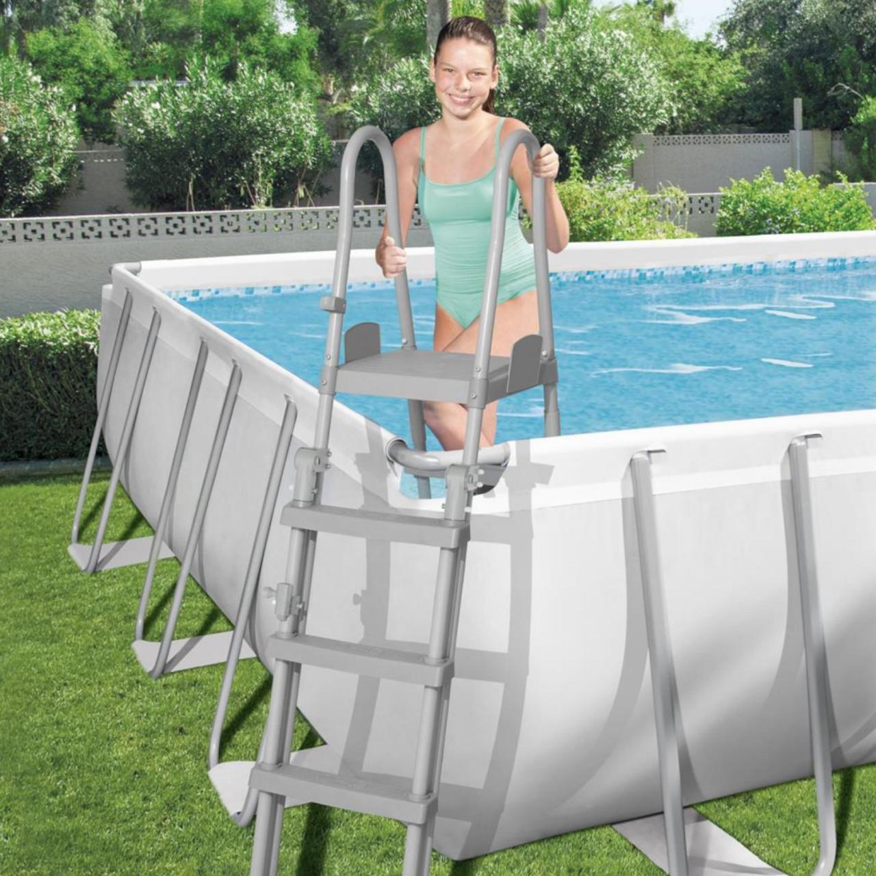 Bestway 56475 Power Steel Rectangular Pool Set 732x366x132 cm