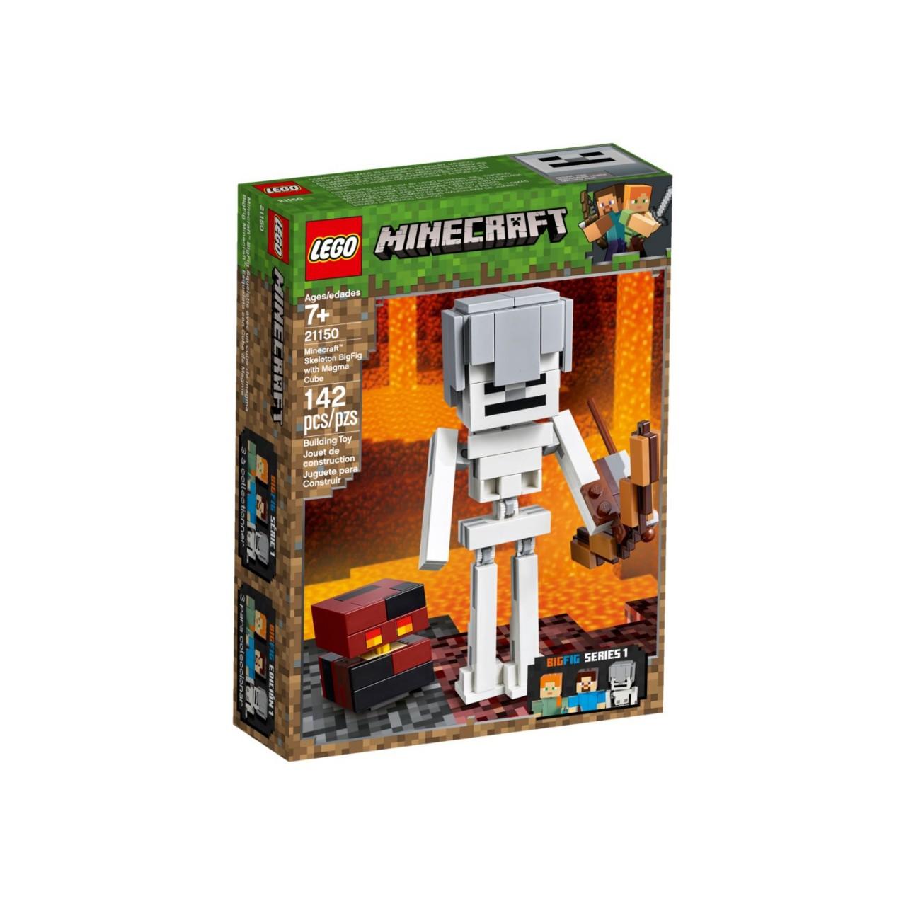 LEGO MINECRAFT 21150 Minecraft-BigFig Skelett mit Magmawürfel