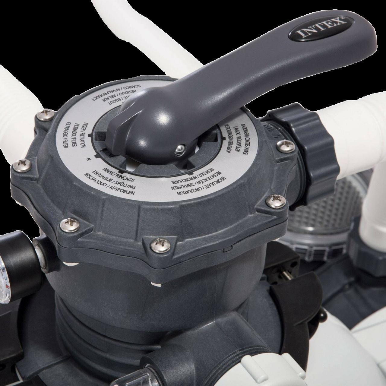 Intex 26652 Sandfilteranlage 12.000 l/h Pool Pumpe Filterpumpe Krystal Clear