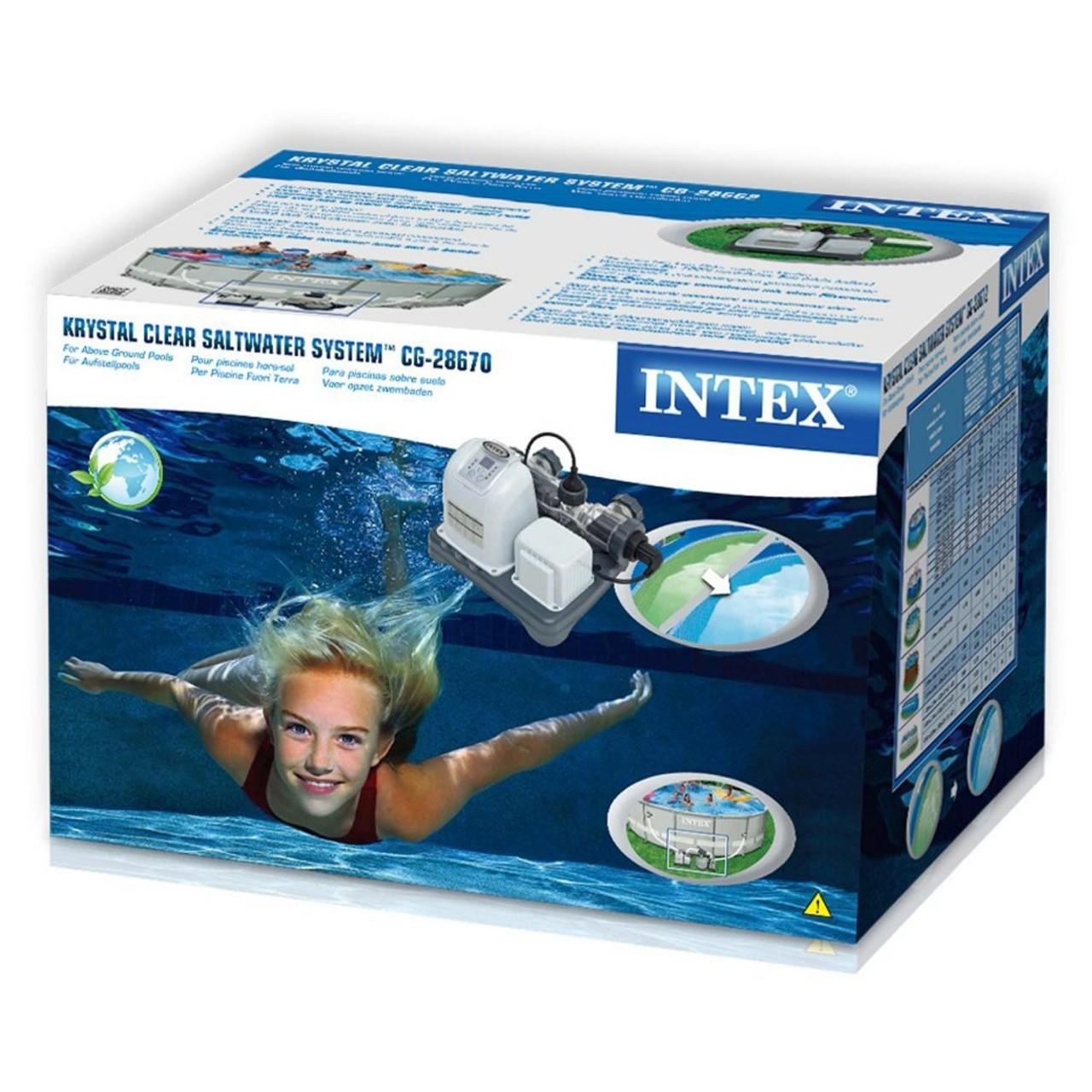 Intex 28670 Chlorgenerator Salzgenerator Salzwassersystem Chlorfrei bis 56.800 L