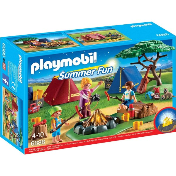 Playmobil 6888 Zeltlager mit LED-Lagerfeuer