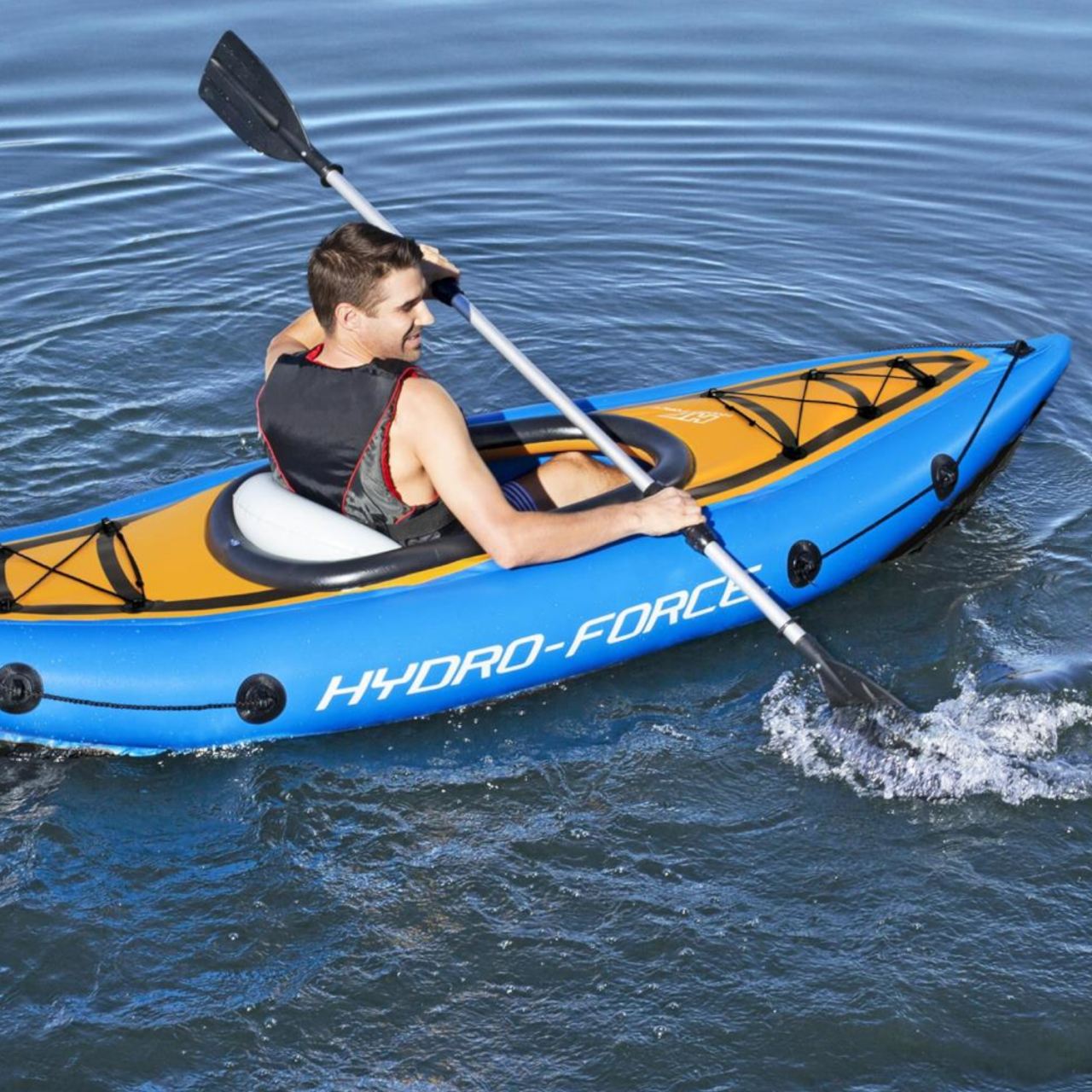 Bestway 65115 Hydro-Force Kajak-Set Cove Champion Aufblasbares Boot 275x81x45cm