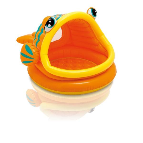 Intex Planschbecken Babypool Lazy Fish Shade Baby Pool mehrfarbig 124x109x71 cm
