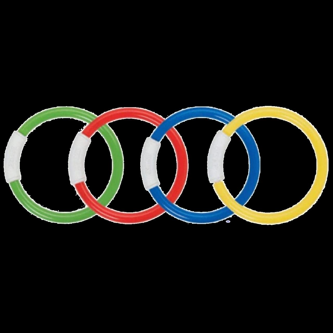 Intex Tauchspiel Dive Rings, Mehrfarbig, 4-teilig