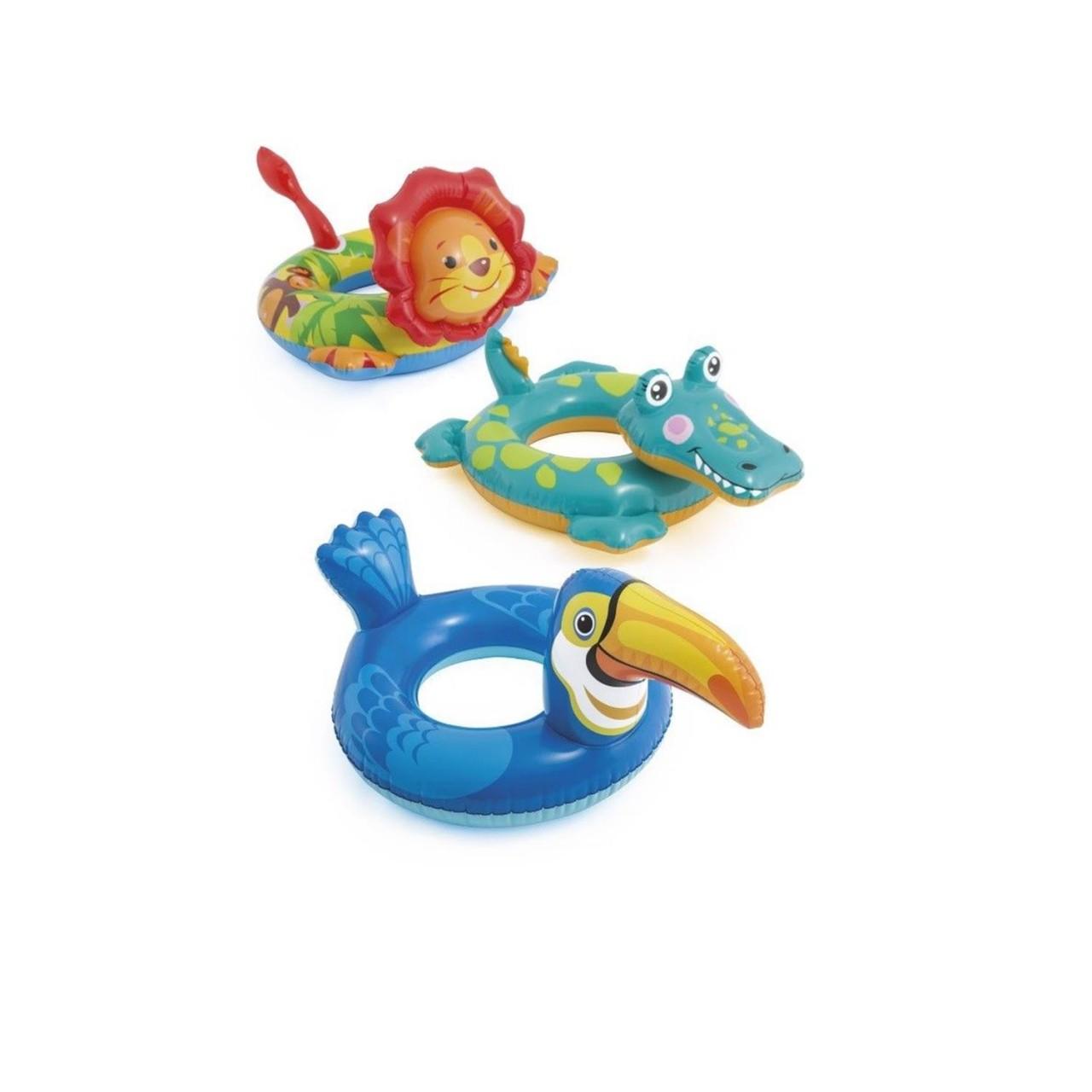 Intex 58221 Kinder Deluxe Schwimmring Animals mit Tierkopf 3 Varianten