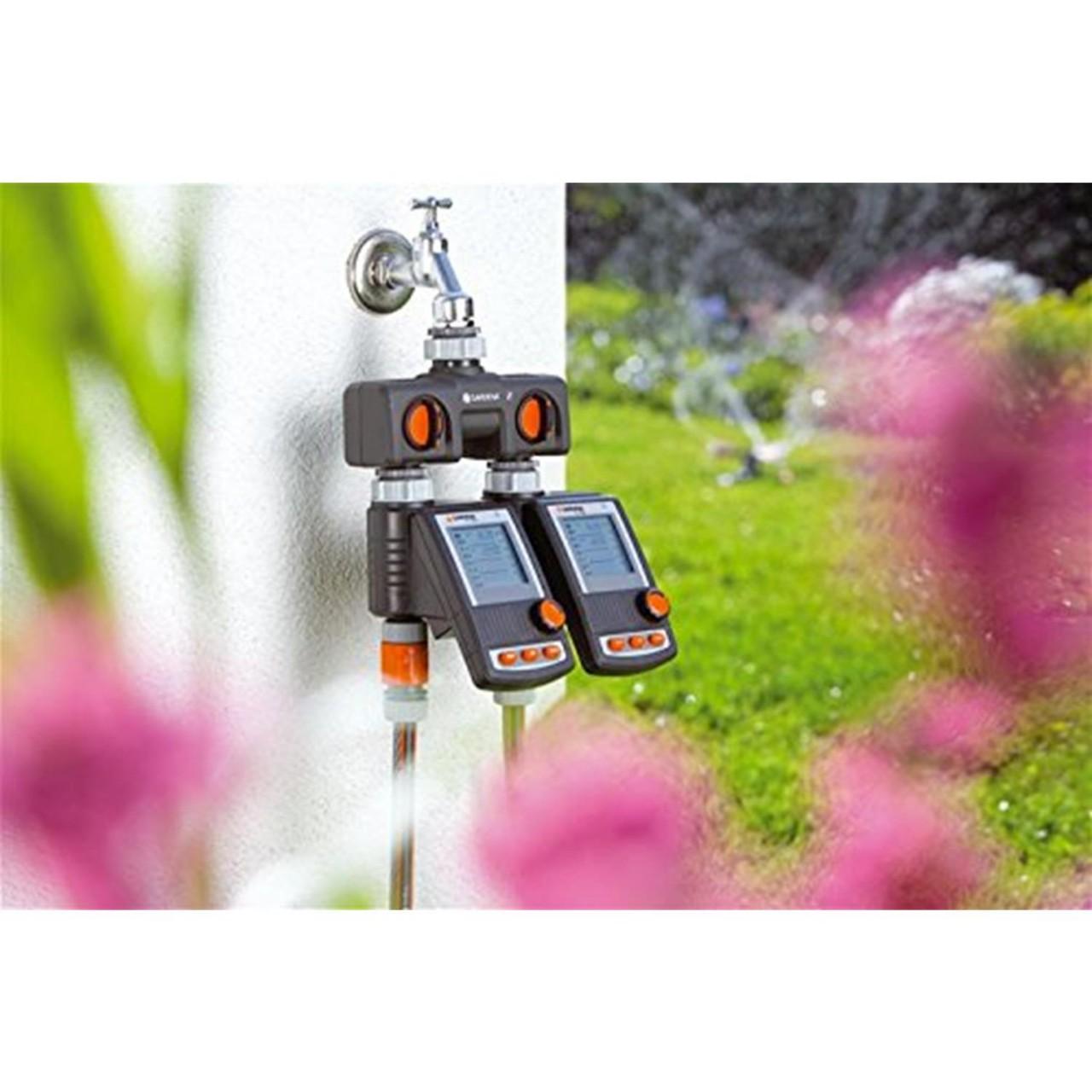 Gardena 2-Wege-Verteiler 8193-20 2 Anschlüsse Wasserhahn Verteiler Steckkupplung