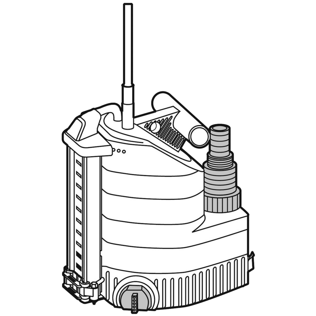 Gardena 1783-20 Klarwasser-Tauchpumpe 9000 aquasensor Schacht-Pumpe 9000 l/h