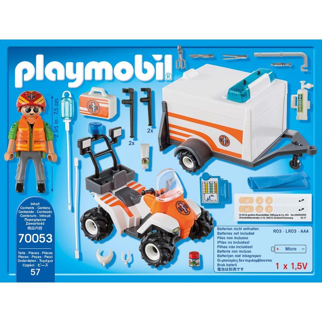 Playmobil 70053 Quad mit Rettungsanhänger