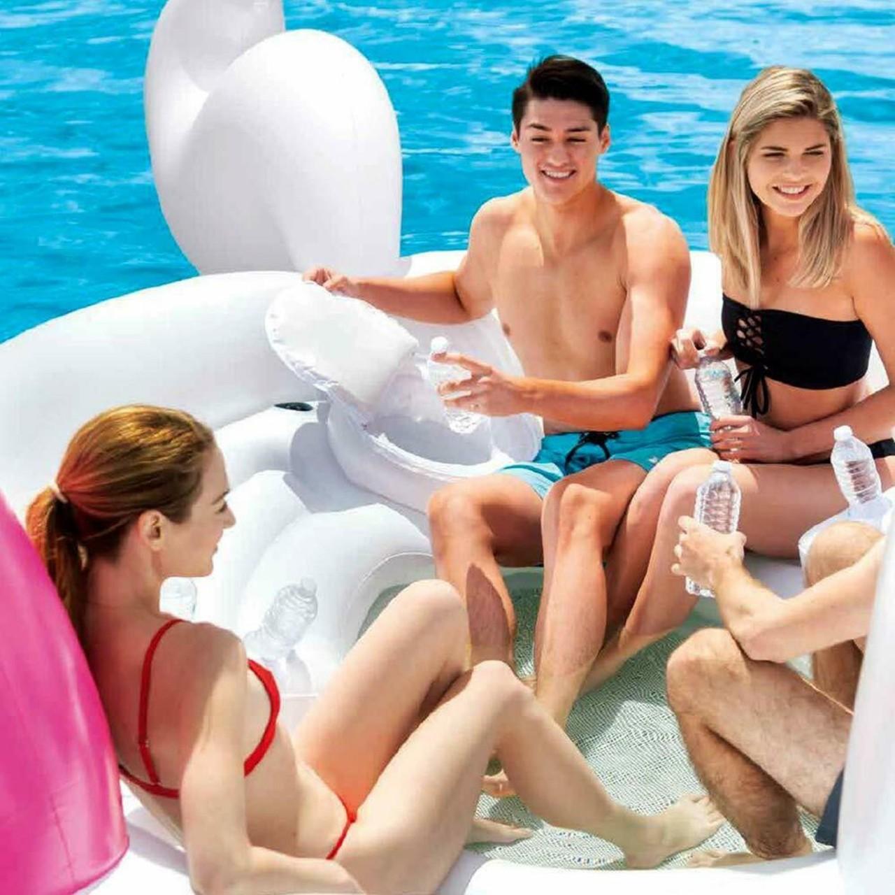 Intex Badeinsel Einhorn Unicorn Reittier Luftmatratze aufblasbar 503x335x173cm