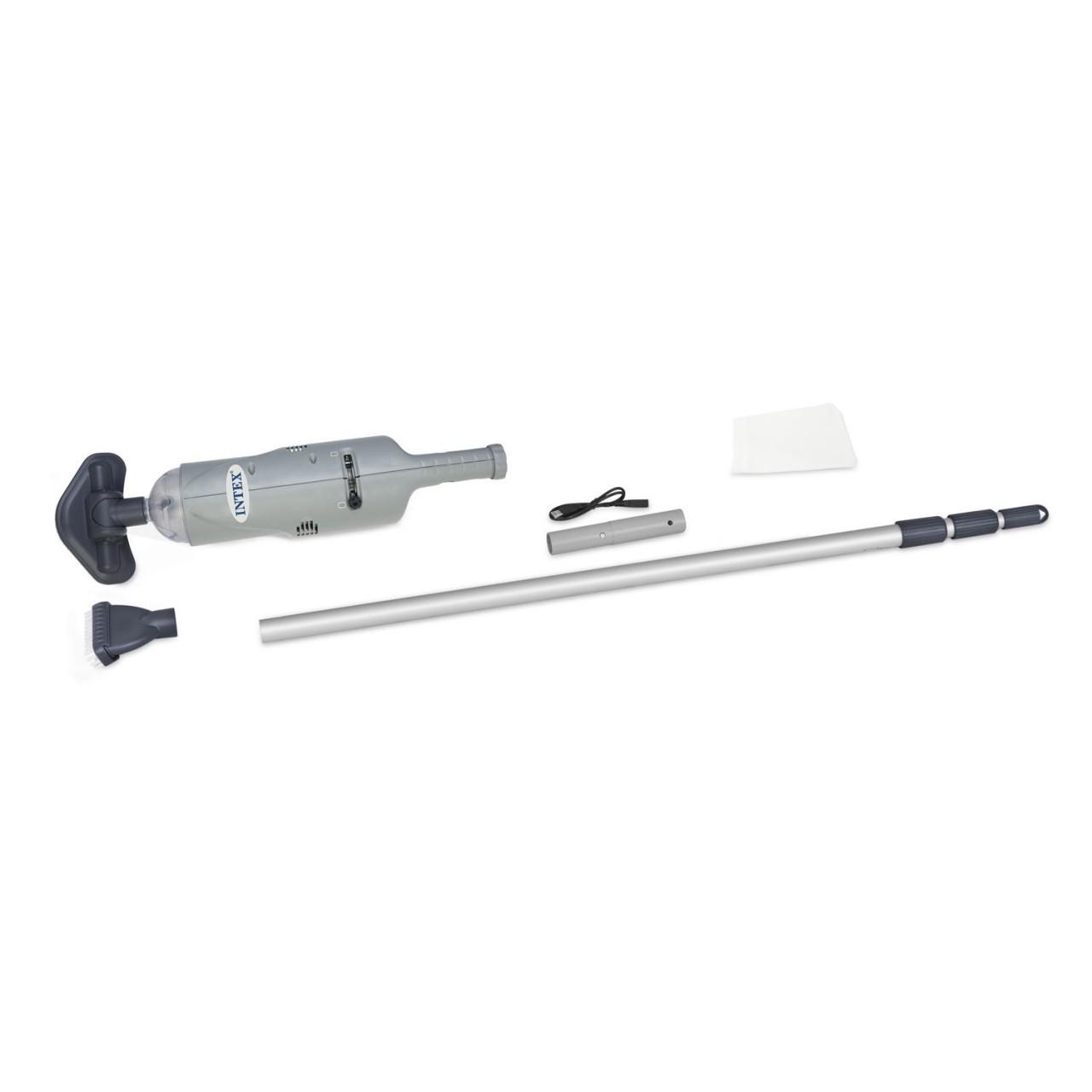 Intex 28620 Bodensauger Poolreiniger Handakkusauger wiederaufladbar 239cm Stange