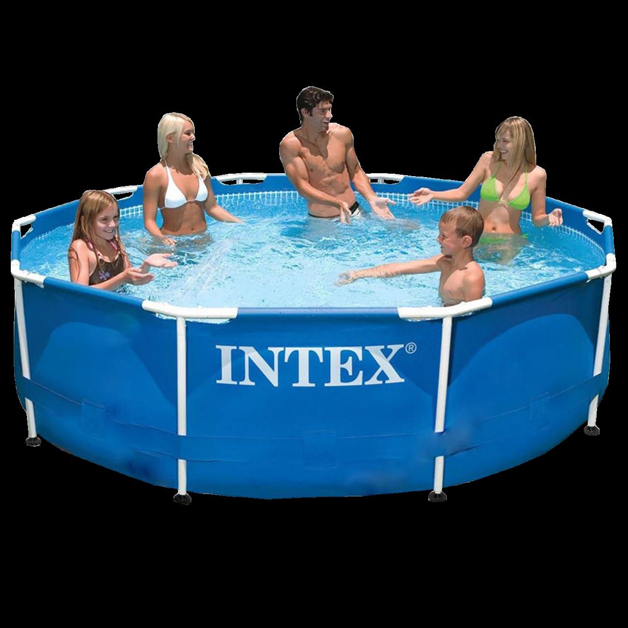 Intex Frame Pool 305x76cm Stahlrohrbecken Schwimmbecken Swimming Pool 28200