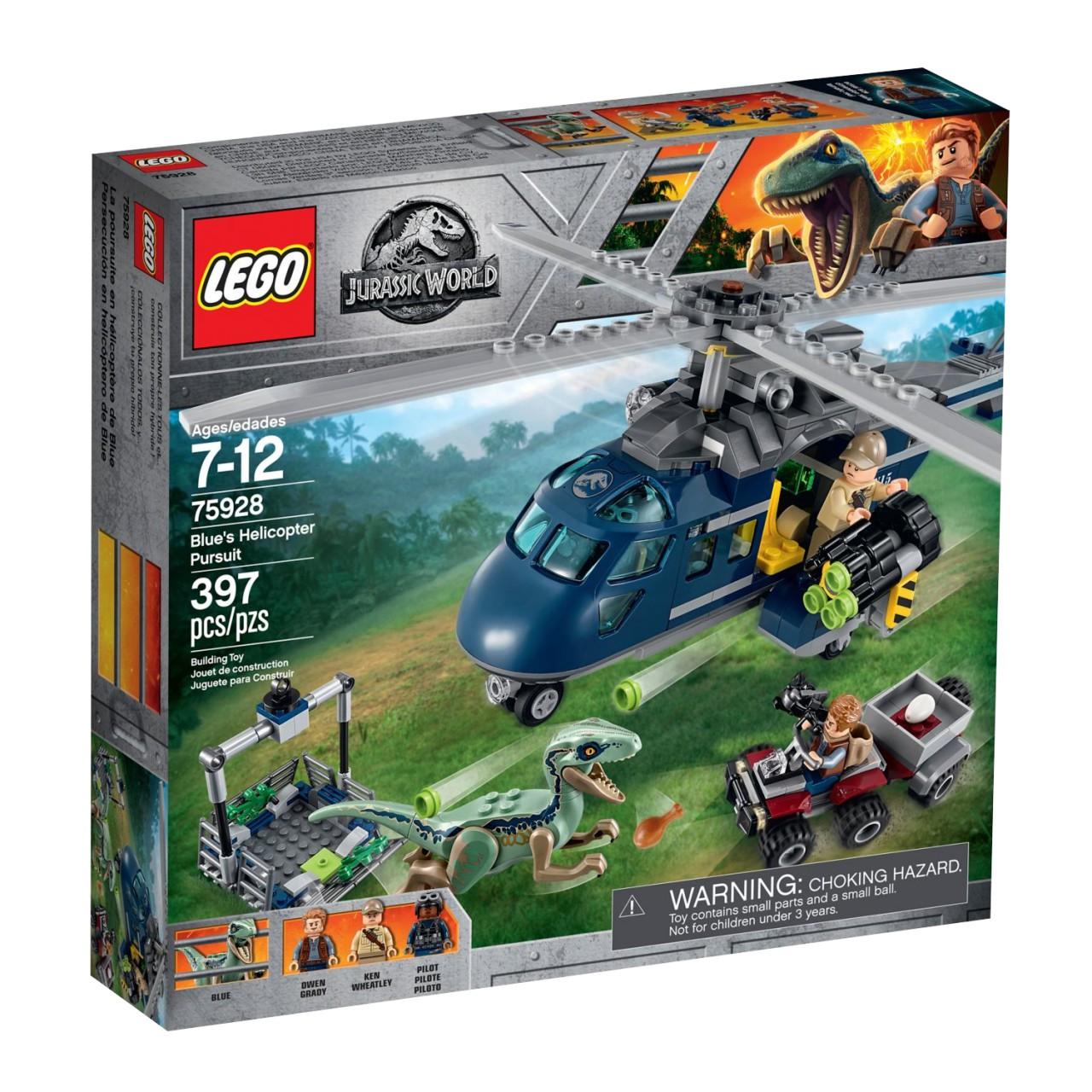 LEGO JURASSIC WORLD 75928 Blue's Hubschrauber-Verfolgungsjagd