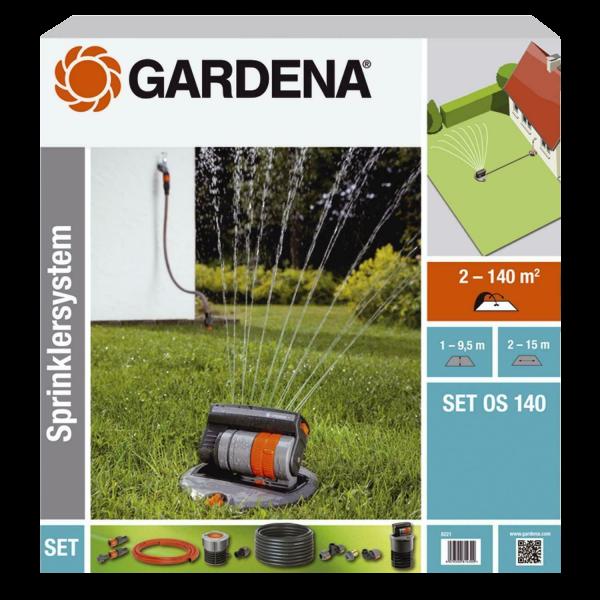 Gardena 8221-20 Komplett-Set OS 140 Versenk-Viereckregner Sprinklersystem