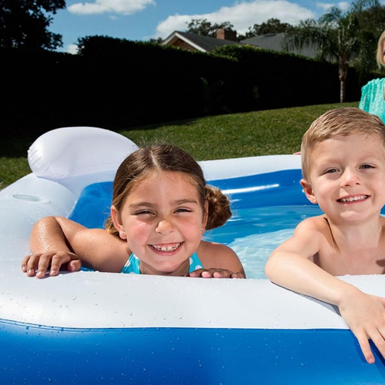 Bestway Planschbecken Schwimmbecken Swimmingpool Kinderpool Sitzecke 575 l 54153