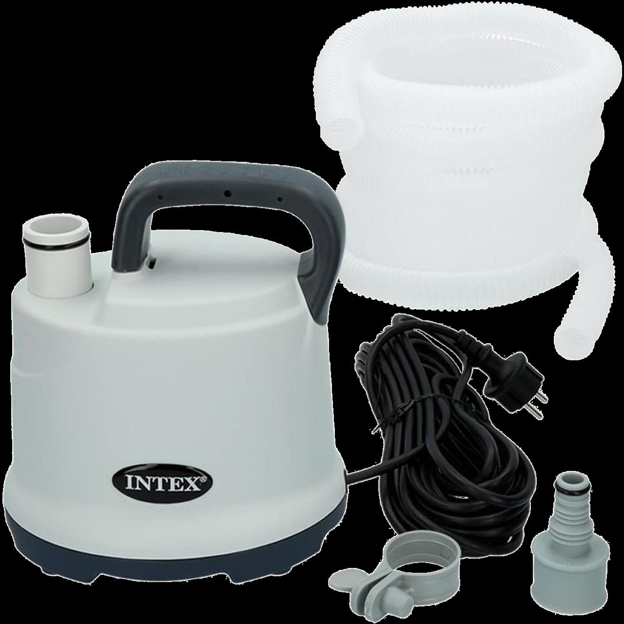 Intex 28606 Pool Tauchpumpe für Pool-Entleerung mit Schlauch 3.595 l/h Pumpe