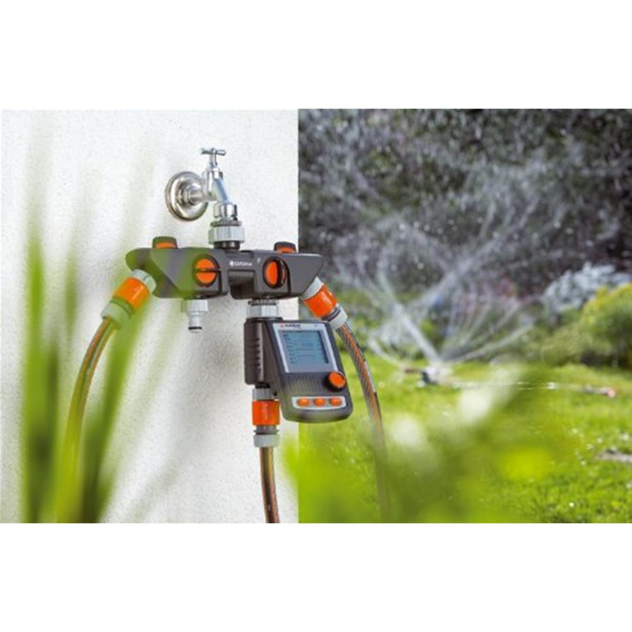 Gardena 4-Wege-Verteiler 8194-20 4 Anschlüsse Wasserhahn Verteiler Steckkupplung