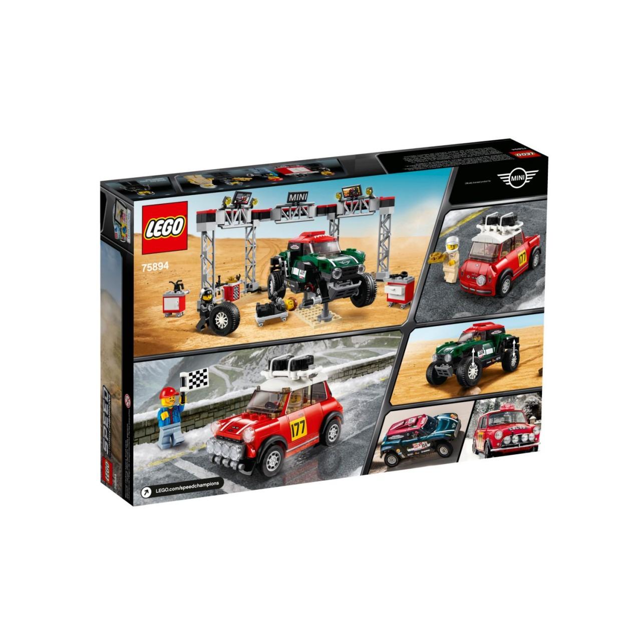 LEGO SPEED CHAMPIONS 75894 Rallyeauto 1967 Mini Cooper S und Buggy 2018 Mini John Cooper Works