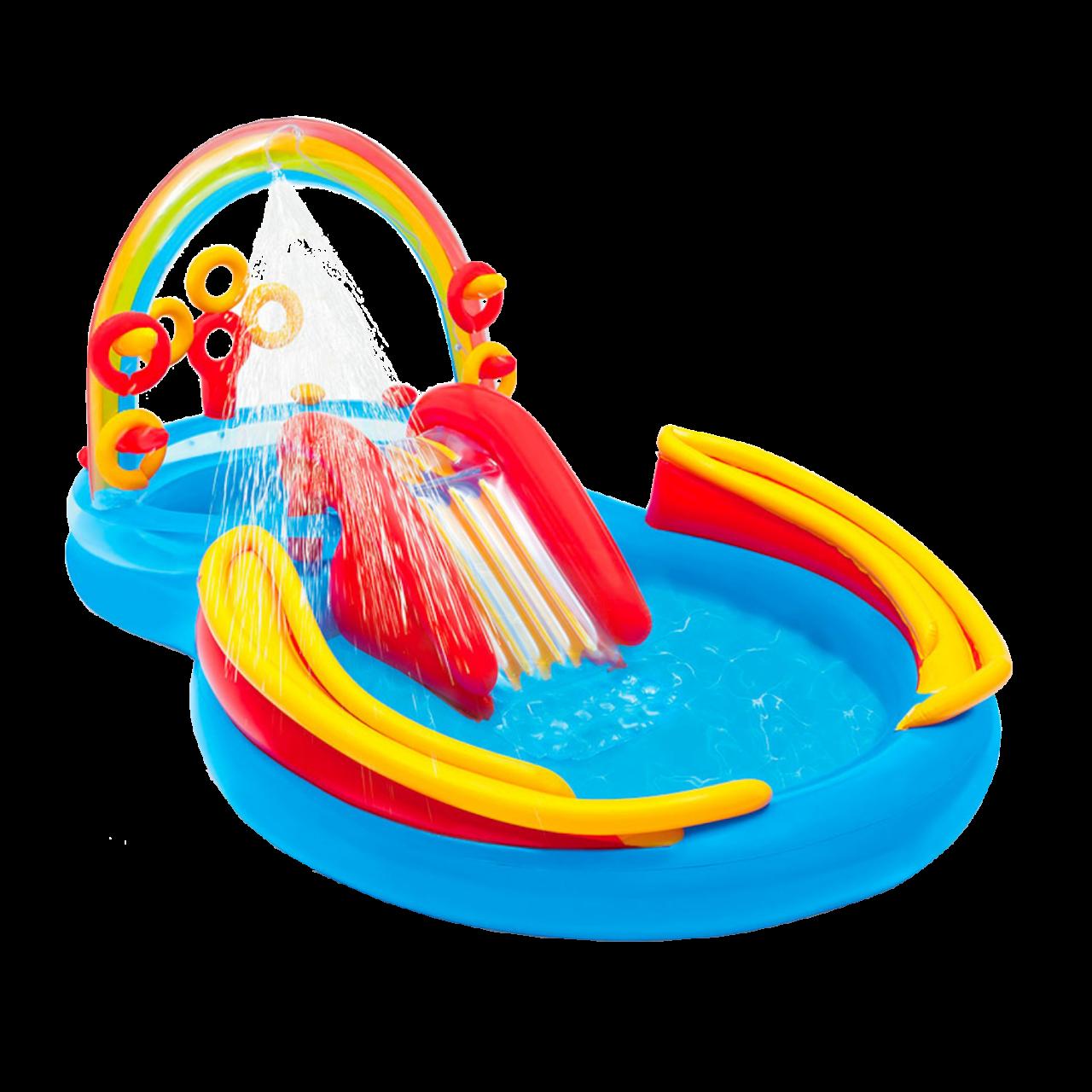Intex 57453 Kinder Pool mit Rutsche Babypool Planschbecken Bällebad