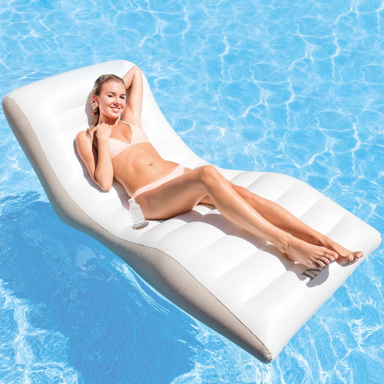 Intex 56861 Wave Lounge Luftmatratze Schwimmliege Pool Wasserliege Poolliege